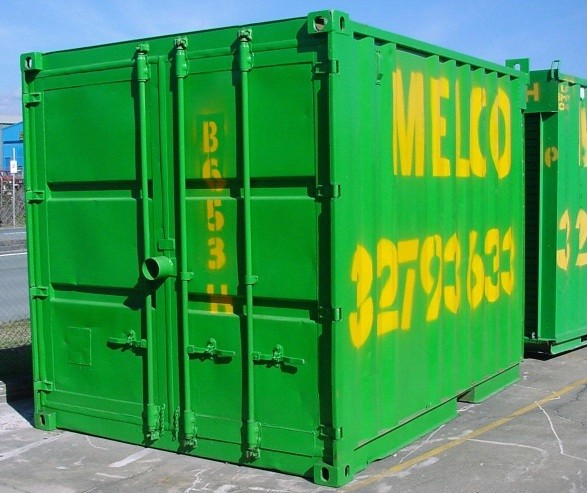 Melco Container size 3 x 2.4 x 2.6 (approximately 15m3 capacity)