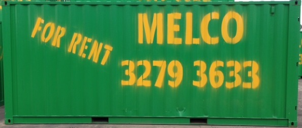 Melco Container size 6 x 2.4 x 2.6 (approximately 32m3 capacity)
