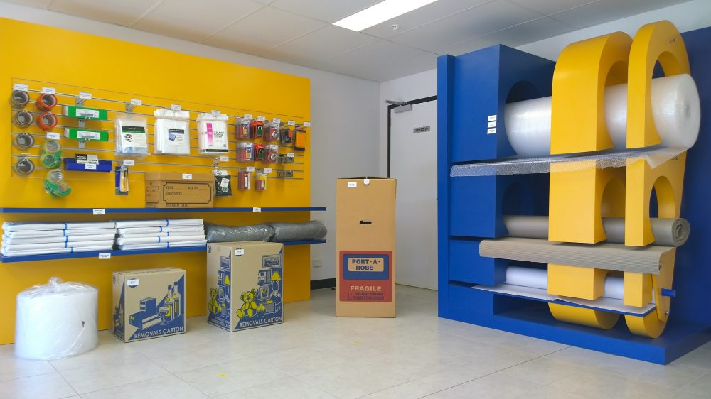 Melco Storage packaging supplies, boxes, locks