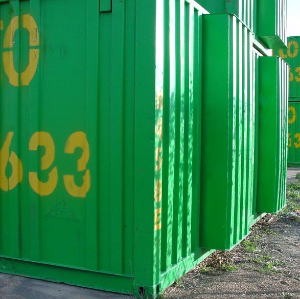 Melco Container size 6.2 (for 1/3 of width) x 2.4 x 2.6 (approximately 33m3 capacity)